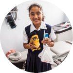 Child at Vida clinic