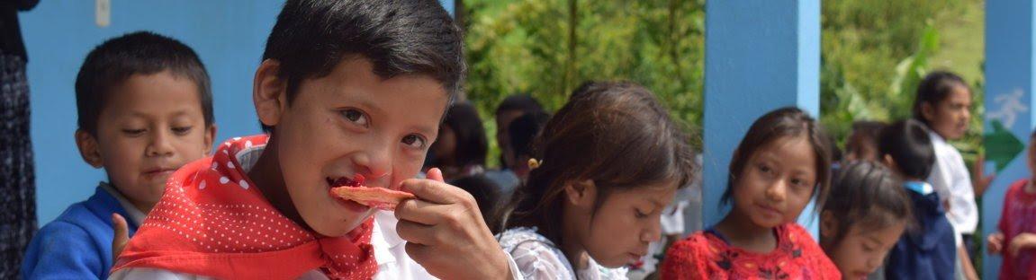 Guatemalan child eating