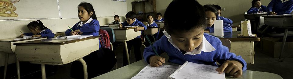 children at desks in a Vida classroom