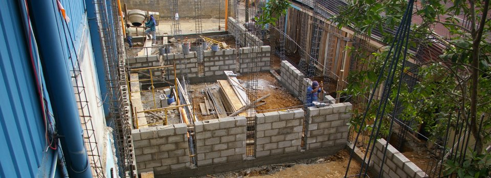Construction at Vida Chamché