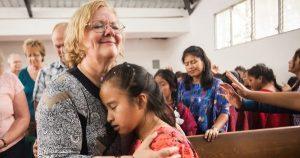 Rita hugging Guatemalan Girl