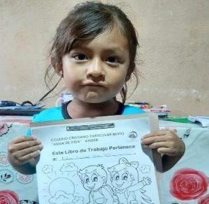 Chijulha student holding kindergarten package