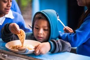 vida child eating school meal