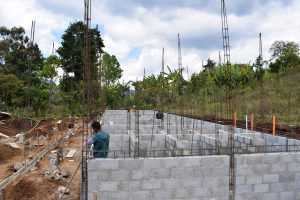Walls going up in Chijulhá