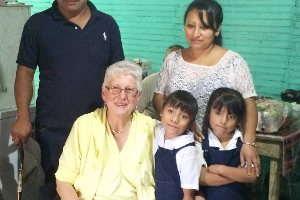 senior with sponsor child and family