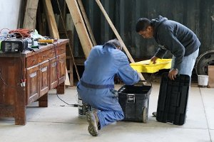 Mechanics in Garage