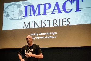 volunteer sharing about impact ministries