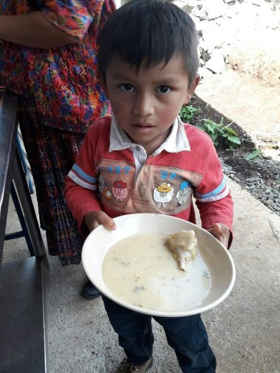 Child with meal