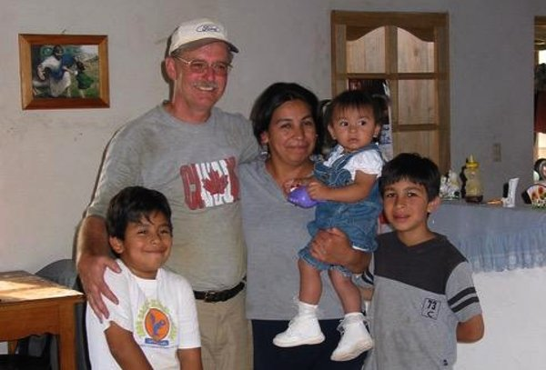 Garry with Cristian and his family