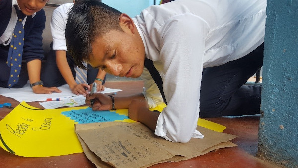Vida Chijacorral Secondary Student working on project