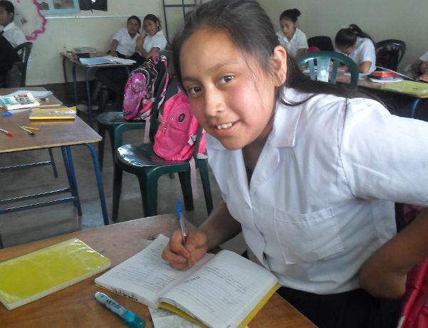 Evelin in class
