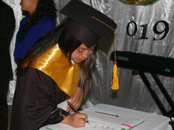 Evelin graduating