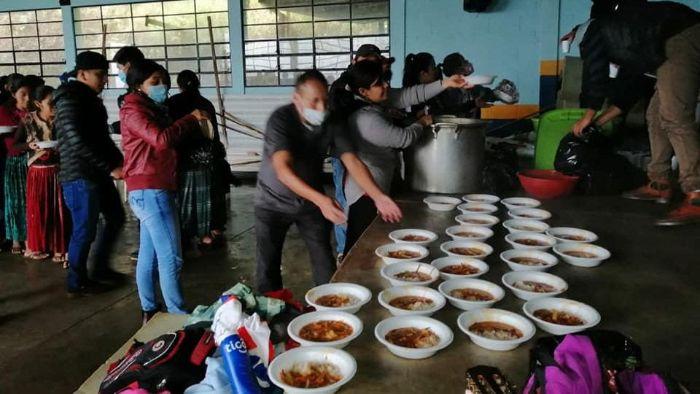 serving meals after tropical storm Eta