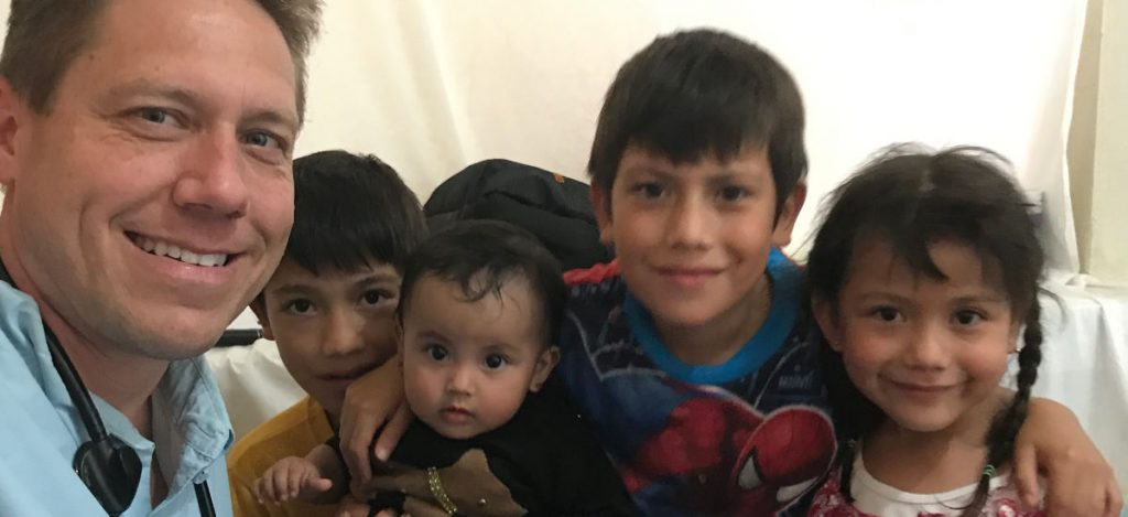 Dr. Chris with Guatemalan children